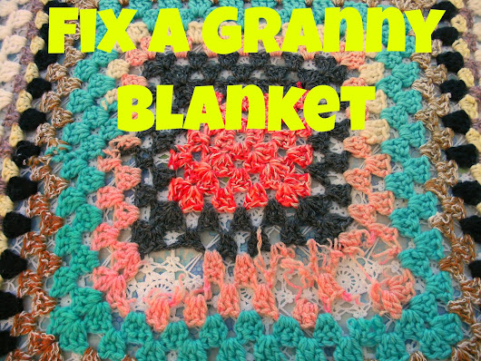 How I fix a Crochet Granny Square Blanket.