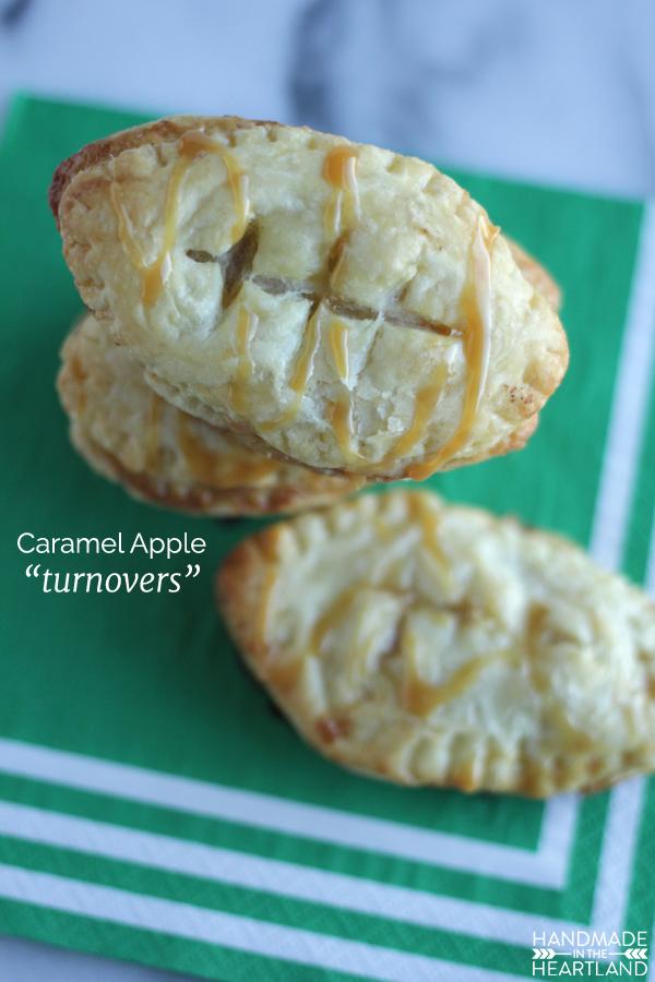 Football Party Dessert, Caramel Apple Turnovers