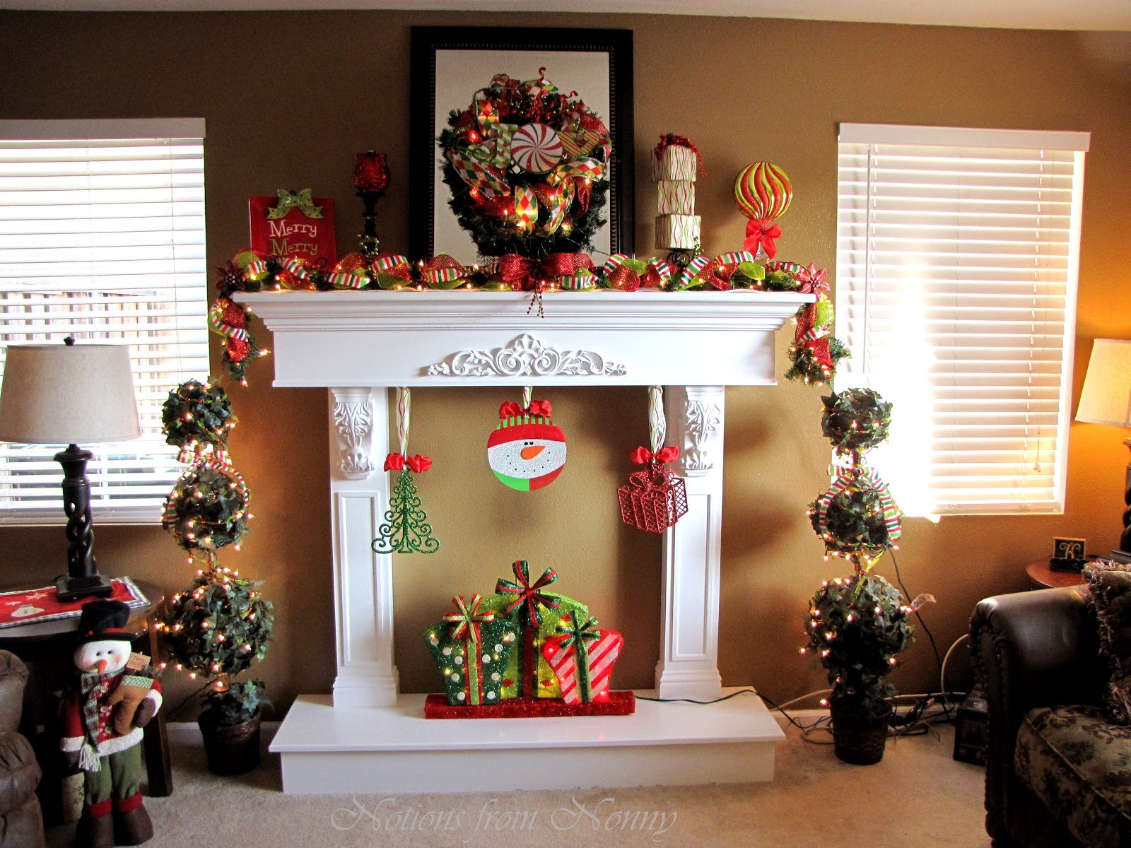Notions from Nonny: Fabulous Faux Fireplace with Mantle