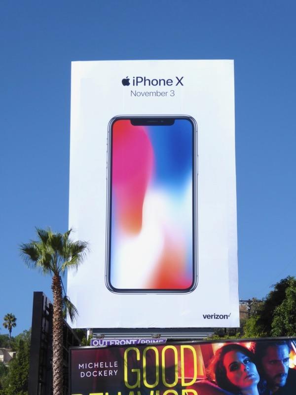 Apple iPhone X billboard