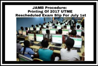 Image for JAMB Supplementary 2017 UTME Procedures