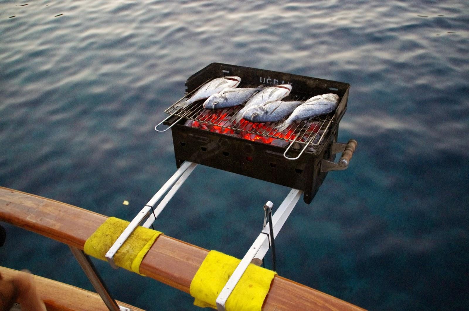 Fish BBQ Dinner in Turkey