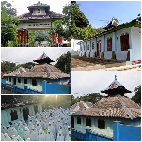 kondisi lingkungan sekitar masjid Saka Tunggal Baitussalam banyumas