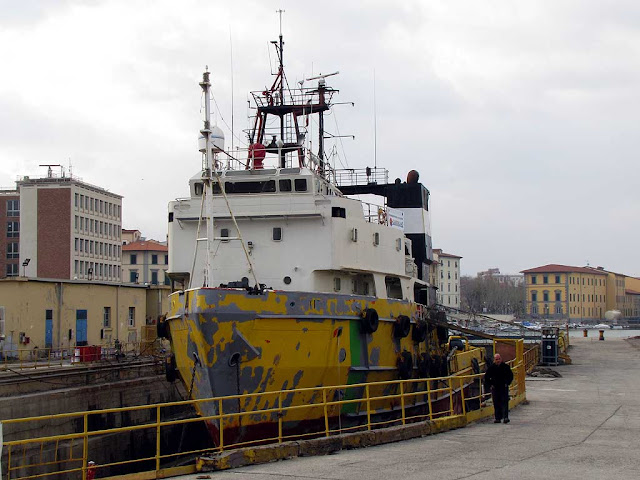 TITO IMO 7711672, anchor handling towing supply vessel, Livorno