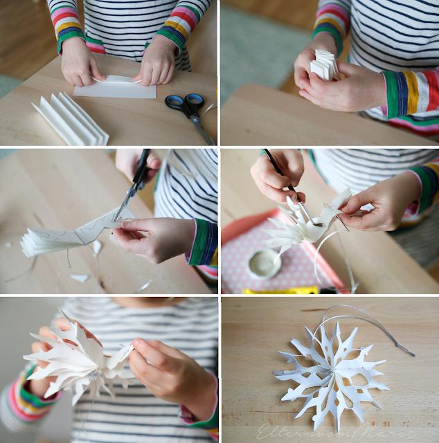 Großartig Nicht Als Geschenk, Aber Als Dekoration Für Die Verpackung Machten Wir Auch  Einfache Schneeflocken Aus Papier. Die Sind So Einfach Und Dennoch  Wunderschön ...