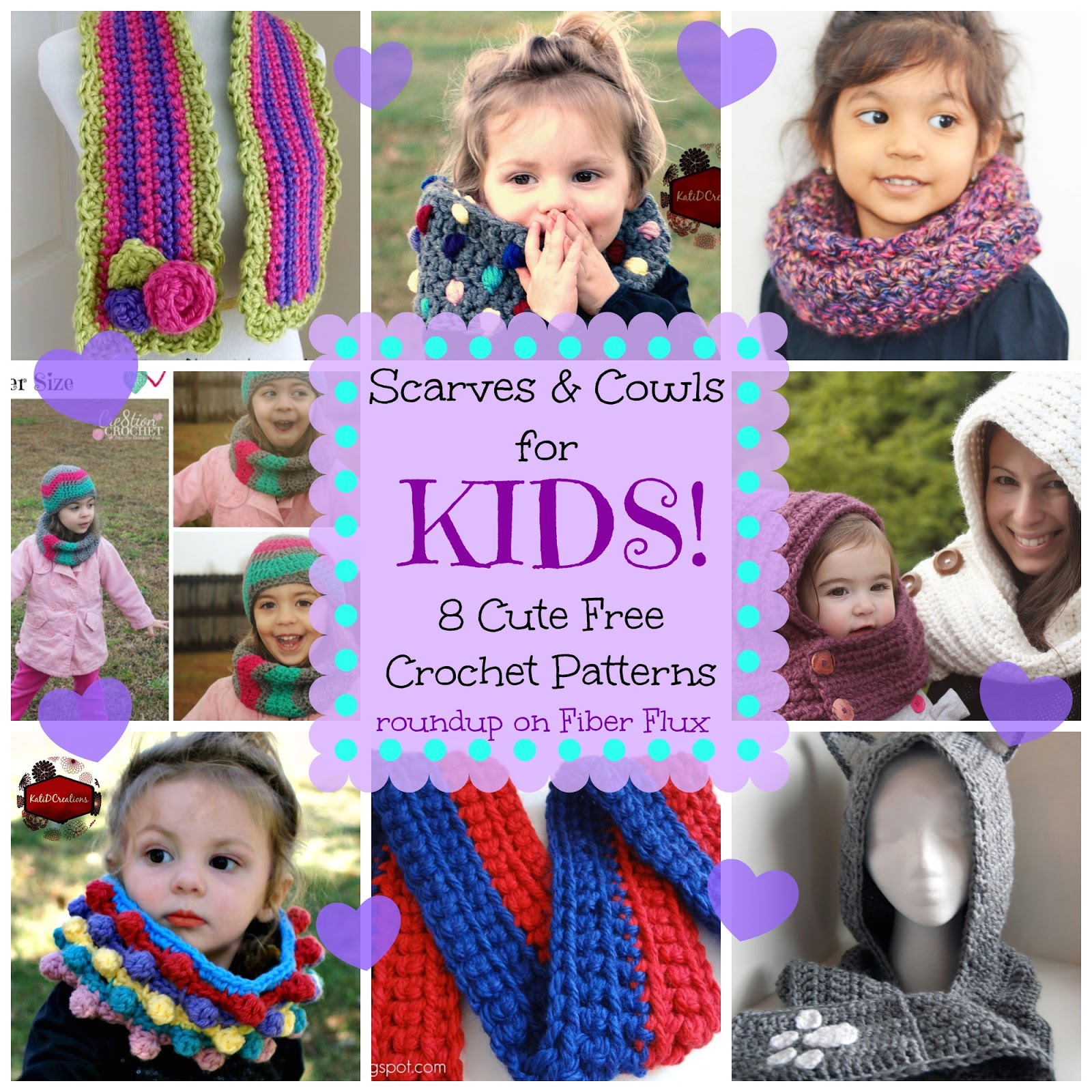 Fiber Flux Scarves And Cowls Just For Kids 8 Free Crochet Patterns