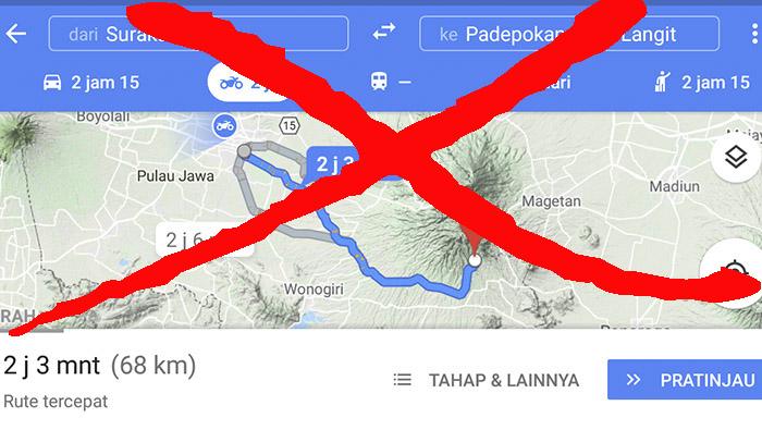 Dari Solo Jangan Langsung Setel Google Maps