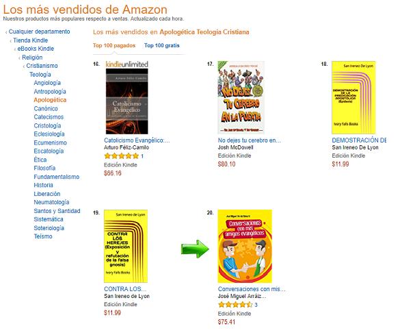 Conversaciones con mis amigos evangélicos, Best Seller de Amazon México