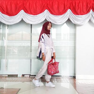 ootd traveling untuk hijabers