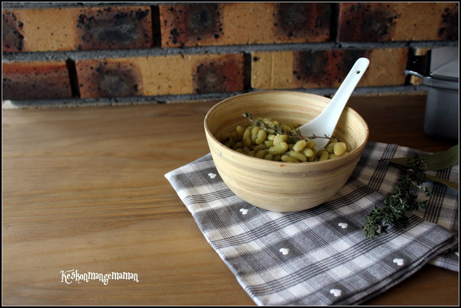 Keskonmangemaman flageolets au multi cuiseur - Comment cuisiner des flageolets en boite ...