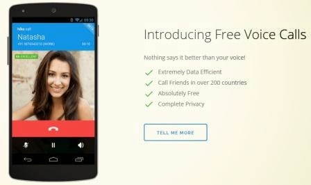 free voice calling from hike