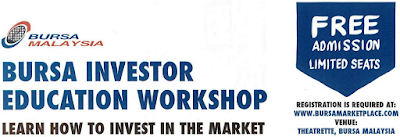 Free Investment Talk Bursa Malaysia Investor Education Workshop