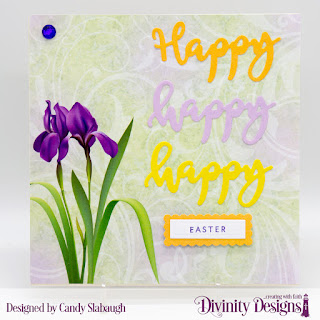 Stamp/Die Duos:  Happy  Custom Dies: Rectangles, Scalloped Rectangles  Paper Collection:  Spring Flowers  2019