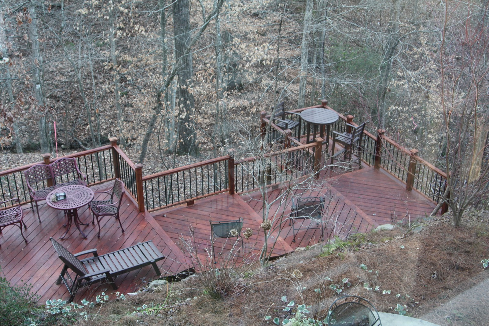 DIY Backyard Deck by #HandyHubby