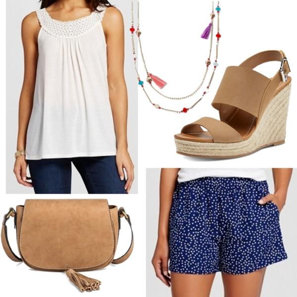 K by Kersh Women's Star Print Short with Pockets Navy • $24.99 Knox Rose Women's Knit Tank White • $16.98 Merona Women's Saddle Crossbody with Suede Tassel - MeronaTM • Merona • $26.99 Women's 2-Row Beaded Long Necklace with Fabric Tassel - Multi-Color (34) • $16.99 dv Women's dv Ella Espadrille Sandals • $29.99