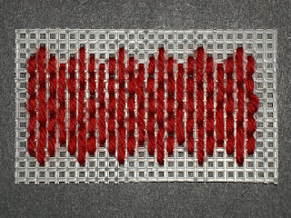 background stitch for 6-way bargello pillow top