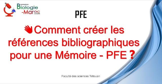 Comment créer les références bibliographiques pour une Mémoire PFE?