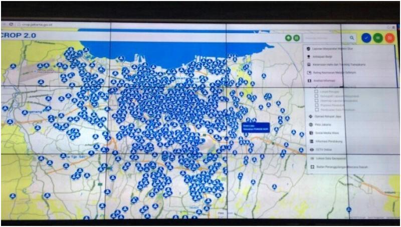 Posisi PNS (warna biru) terlihat di aplikasi Crop 2.0