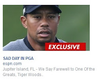 Tiger Woods dead; Facebook