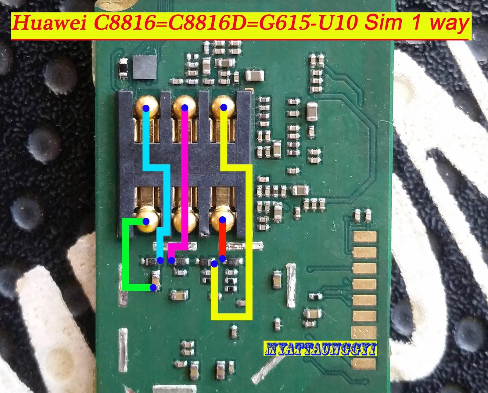 Huawei C8816 , C8816D , G615U10 Jumper Way