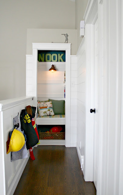 Book nook from closet