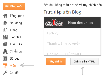 Loại bỏ CSS mặc định trong blogspot