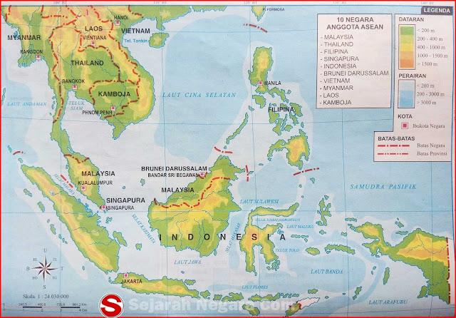Gambar Peta 10 Negara Anggota ASEAN