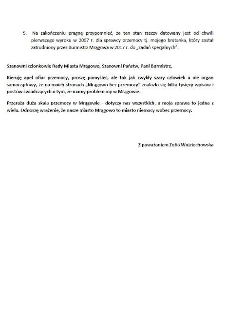 Radni - nie bądźcie bezradni - apeluje mrągowska działaczka do reprezentantów mieszkańców z Rady Miasta Mrągowa