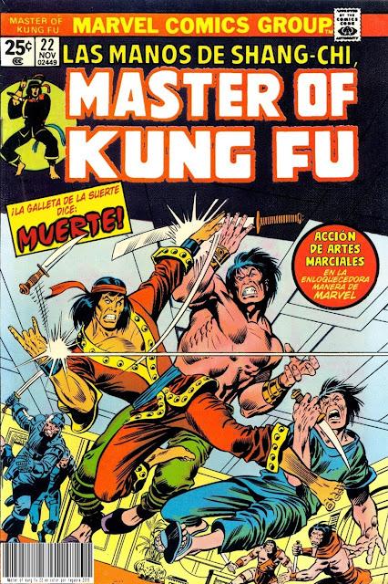 Portada de Master of Kung Fu Nº 22 traducido