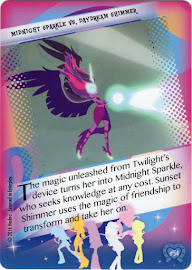 My Little Pony Midnight Sparkle vs. Daydream Shimmer Equestrian Friends Trading Card