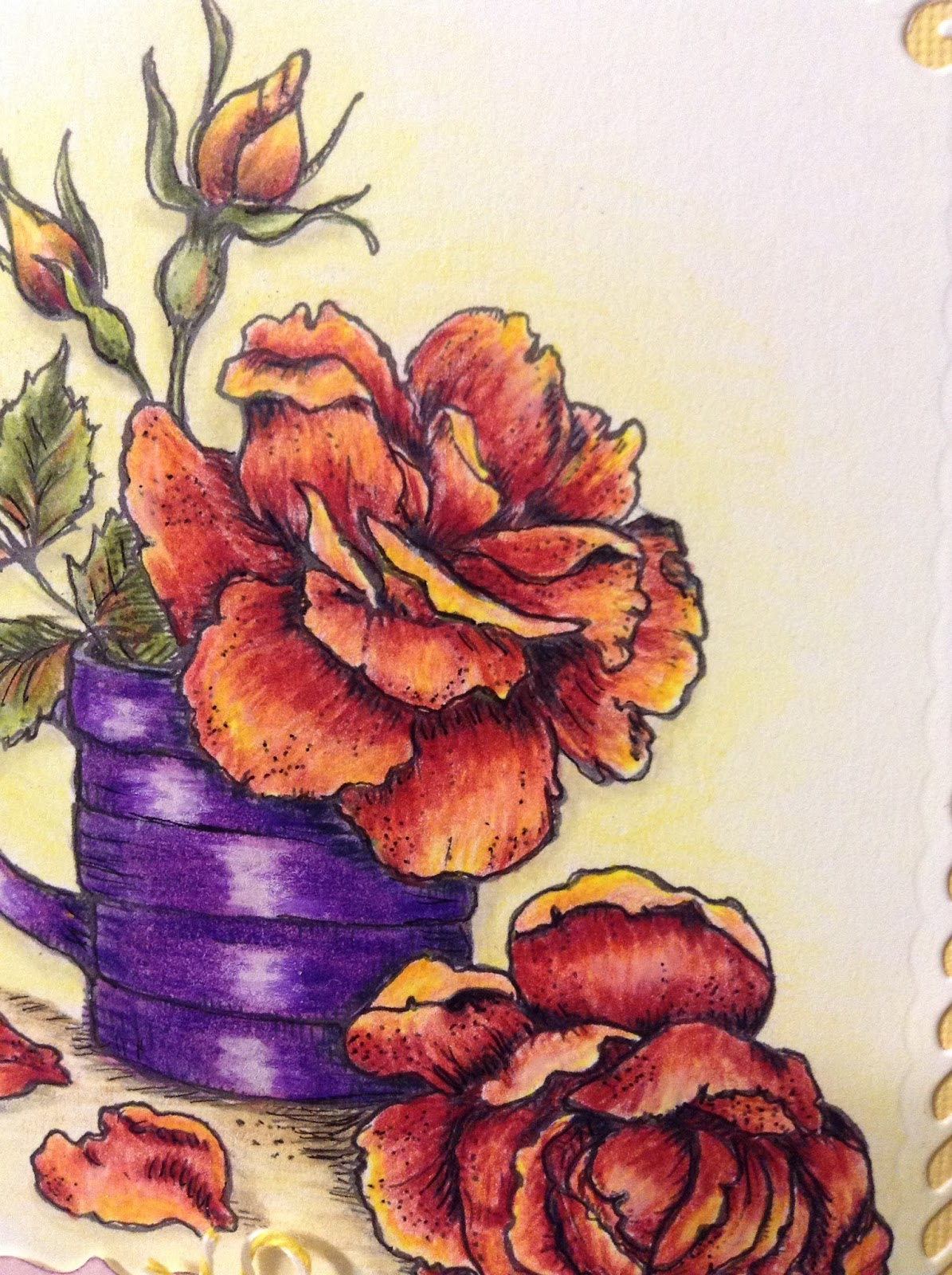 PaperArts Cafe: Cup of Flowers