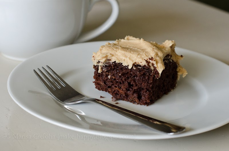 Homemade Chocolate Cake Peanut Butter Frosting: Make Happy: Chocolate Zucchini Cake With Peanut Butter
