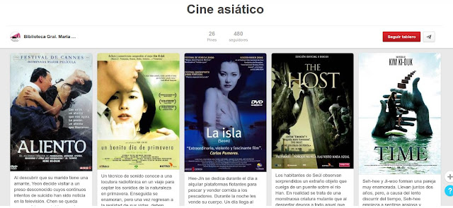 """""""Cine Asiático"""" en la BUM."""