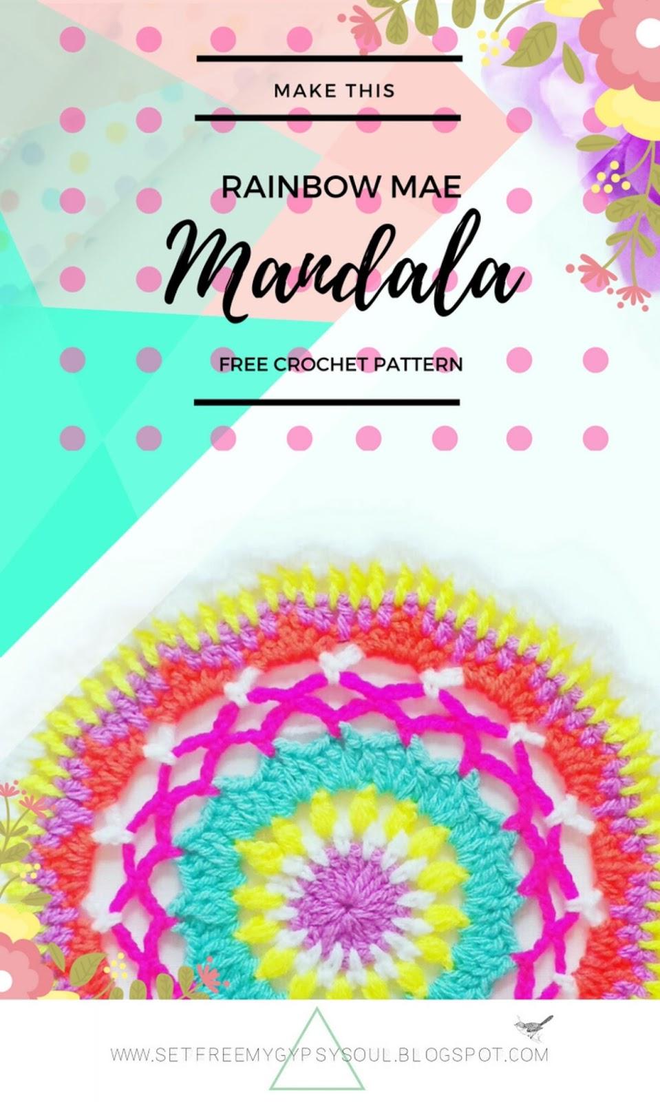 free mandala crochet pattern easy beginner