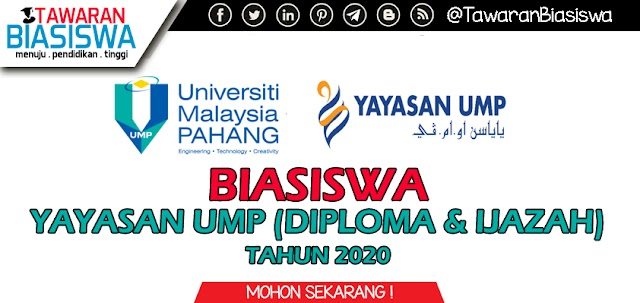 Tawaran Biasiswa Yayasan UMP (Diploma & Ijazah Pertama) Kemasukan 2019/2020