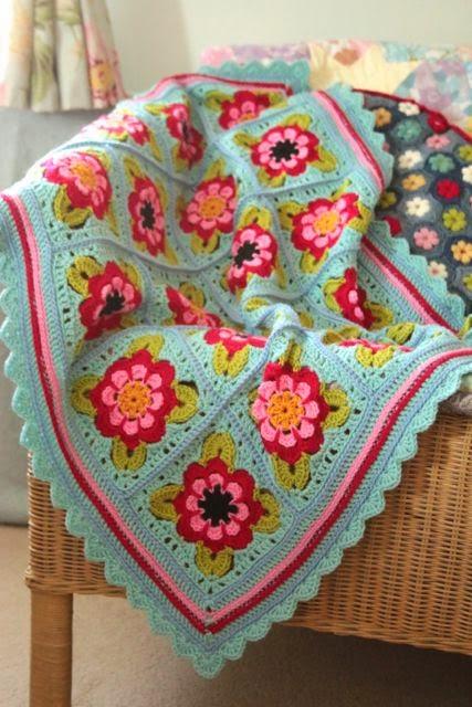 Cherry Heart Painted Roses Blanket