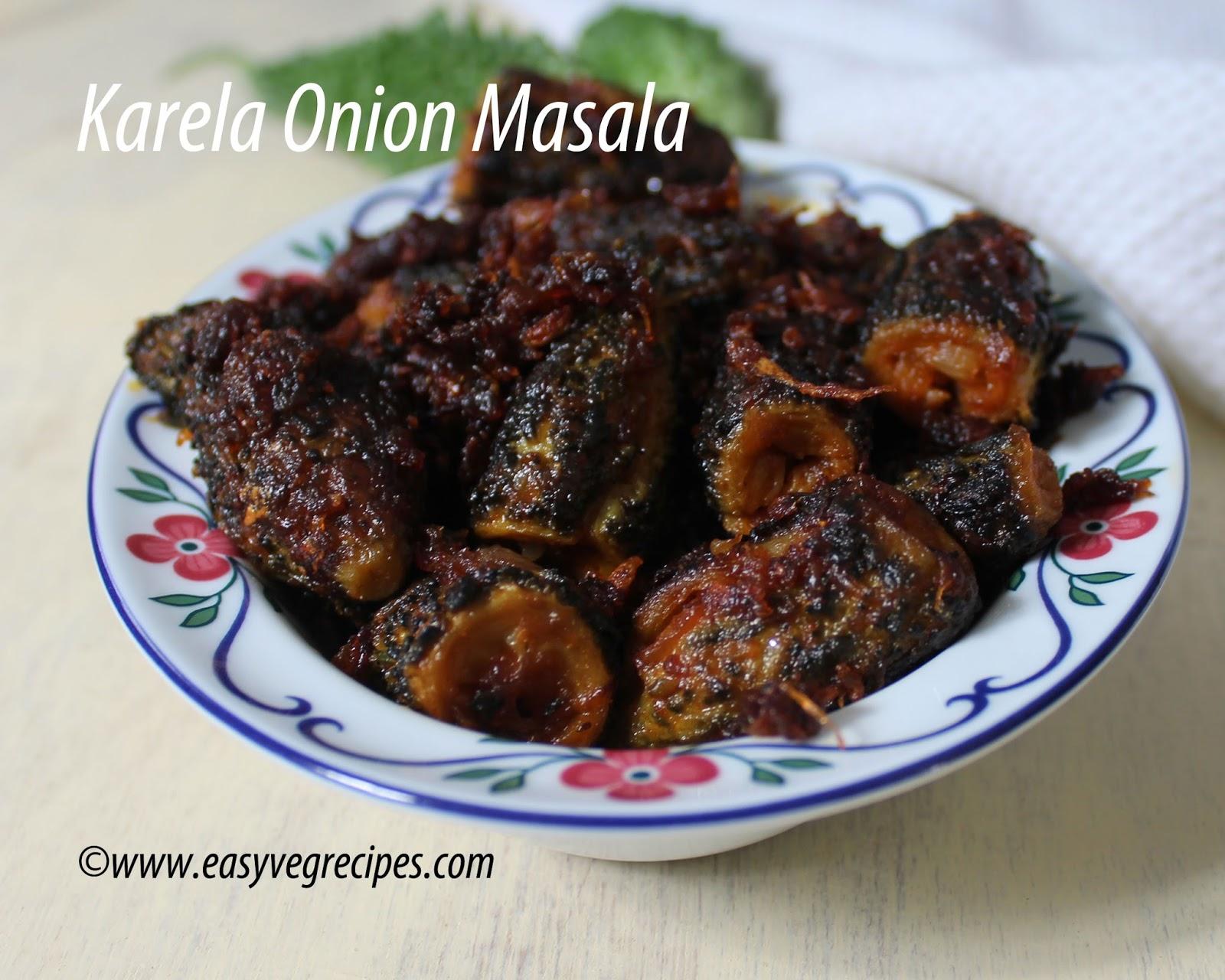 Karela Onion Masala
