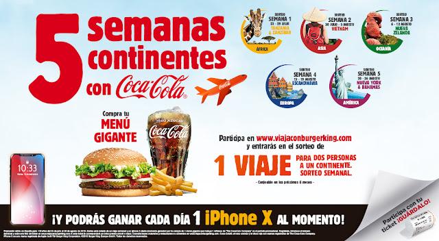 Sorteo viajes iPhoneX Burger King