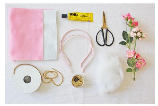 C mo hacer una diadema o tiara de unicornio - Material para hacer diademas ...