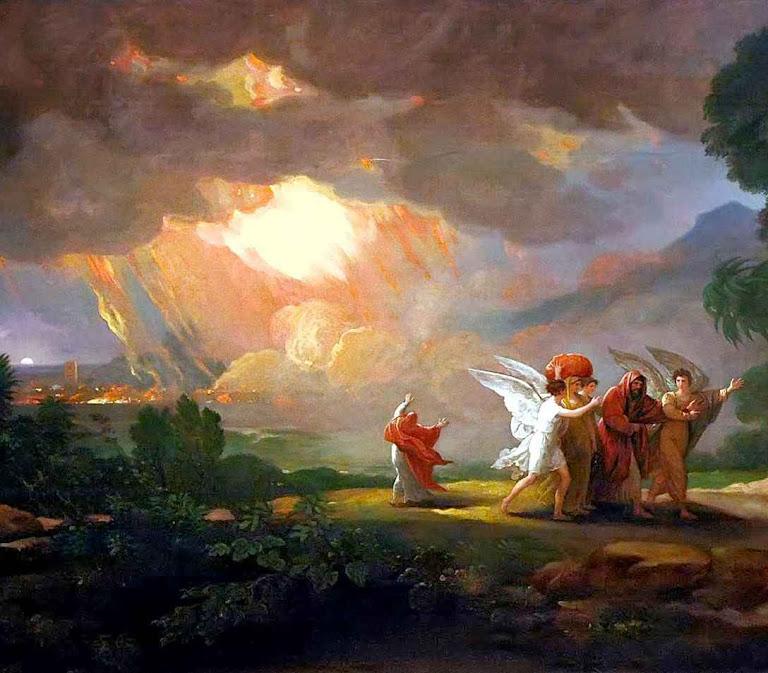 A destruição de Sodoma, Benjamin West  (1738 – 1820)