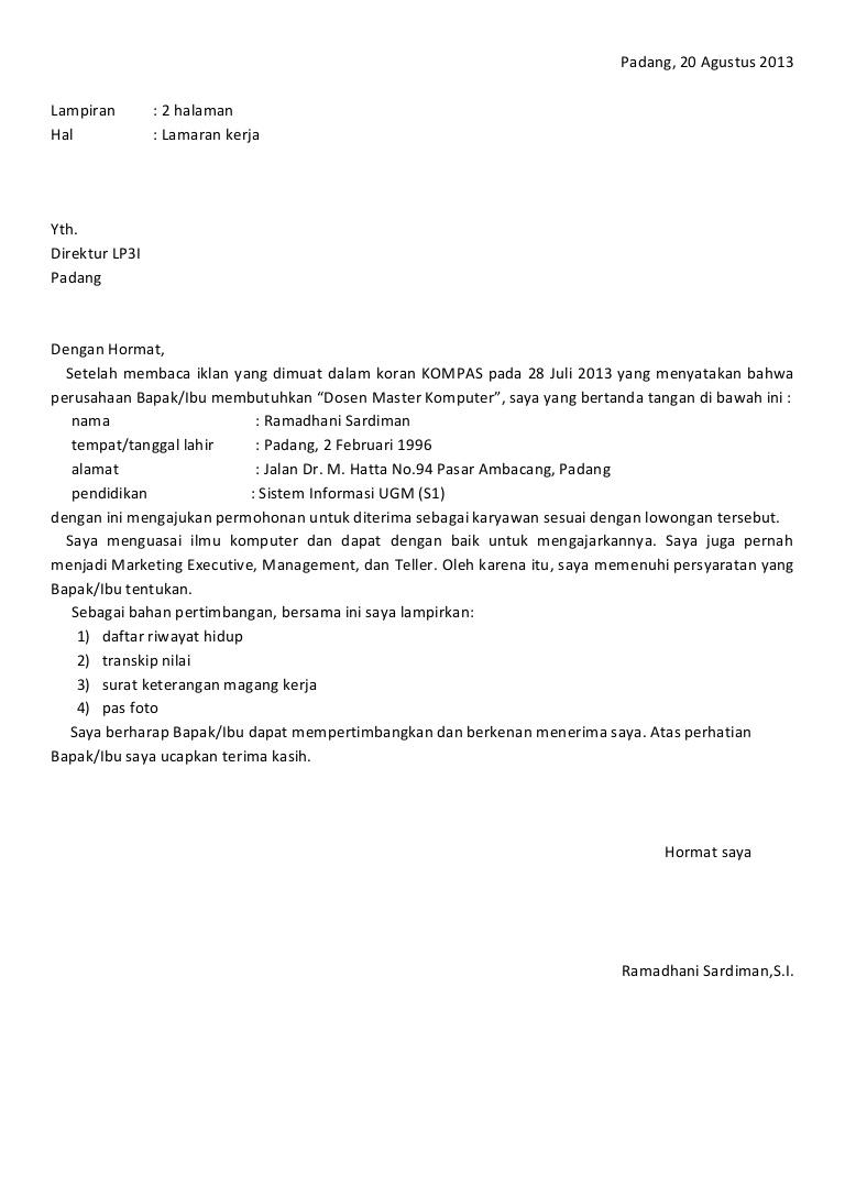 9 Contoh Surat Lamaran Kerja Berdasarkan Iklan Lengkap Guild Jobs