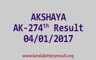 AKSHAYA AK 274 Lottery Results 4-1-2017