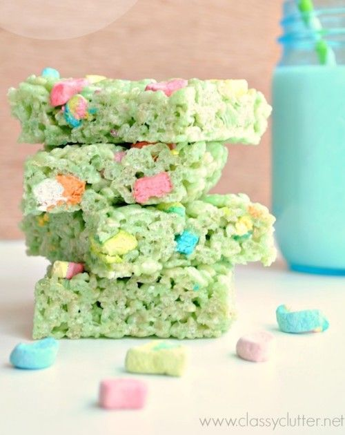 when cooking st patricks day rice krispie treats with