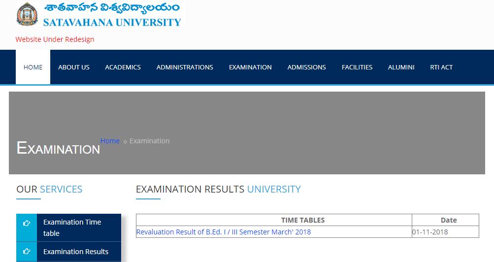 SU Degree Supply Results 2018 - 2019 Manabadi