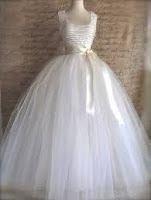 long white tutu gown for a wedding