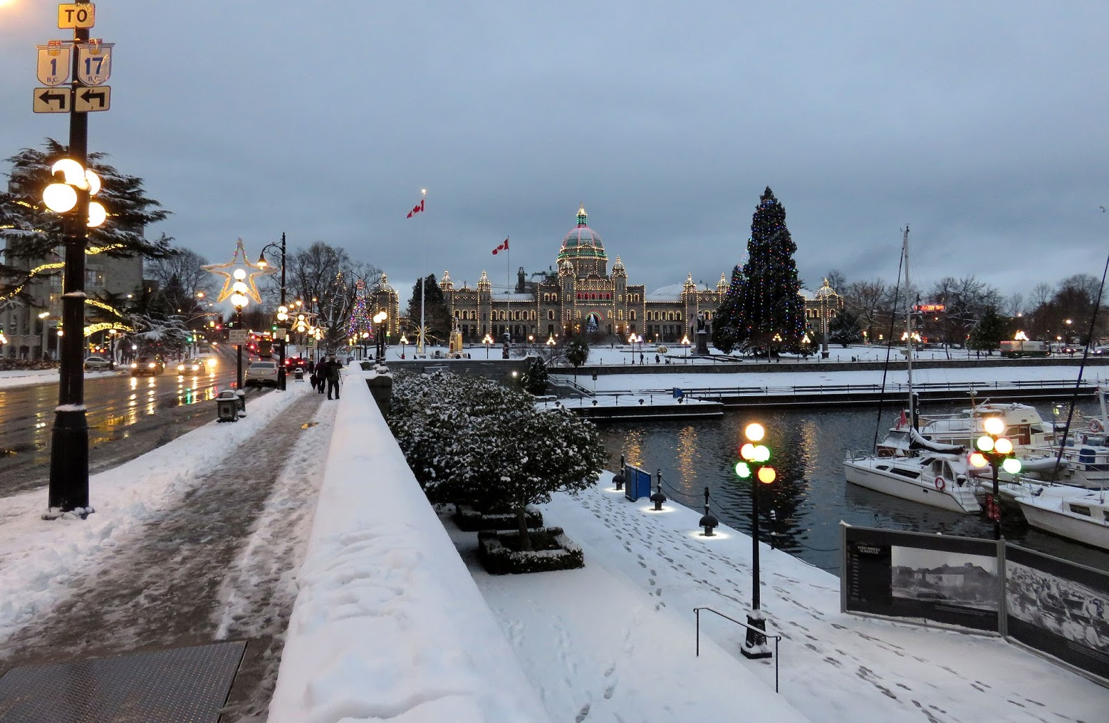 Victoria Weather Climate Snow Returns To Victoria After