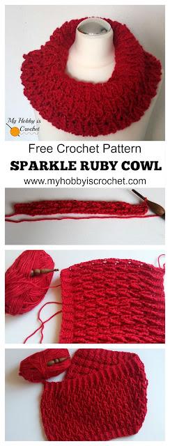 Sparkle Ruby Cowl - Free Crochet Pattern + Tutorial