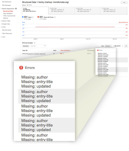 How to fix Google rich Snippest errors (Missing:auther & Missing: update)