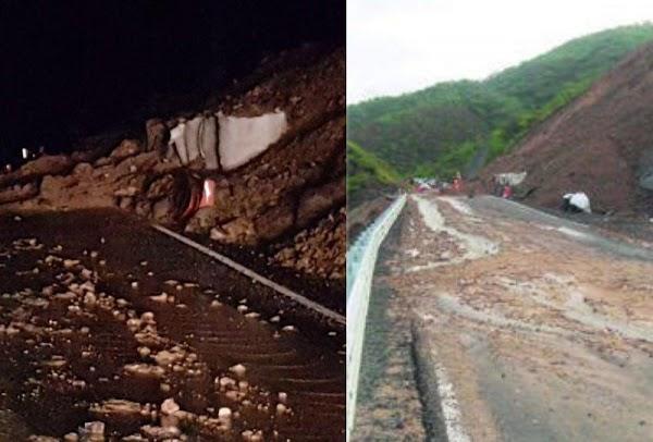 Por deslave, cierran tramo de vía corta a Puerto Vallarta por un mes, Peña la había inaugurado en ABRIL.
