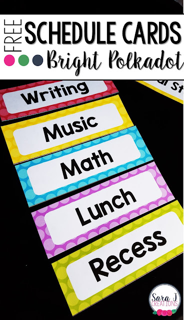 Free daily schedule cards to post on your board and help keep your students organized and on track.